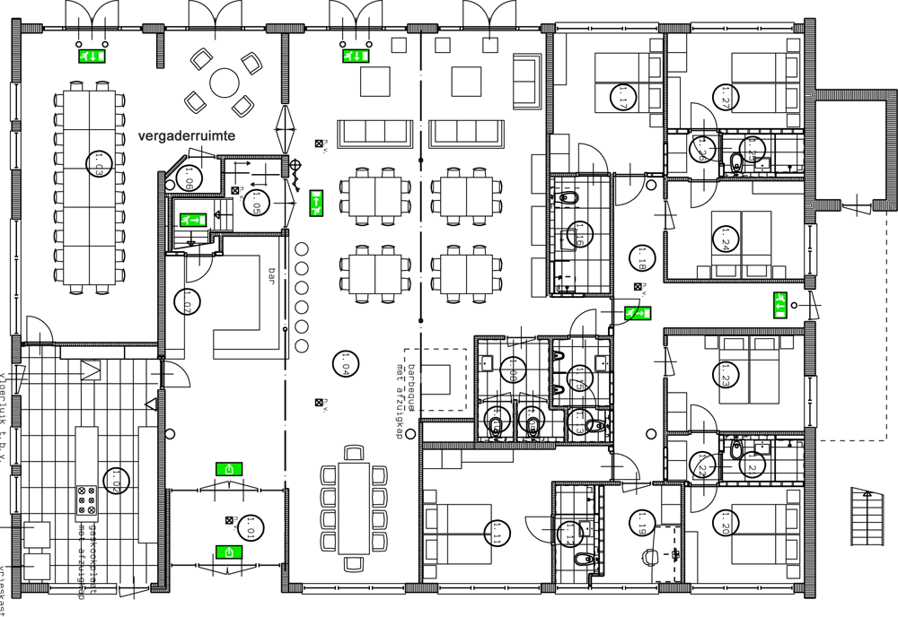 Floor plans of drentsche hof for Best office layout for productivity